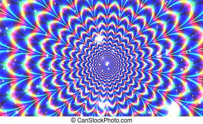 Blue optical expansion illusion
