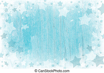 Blue or turquoise wooden christmas background with texture....