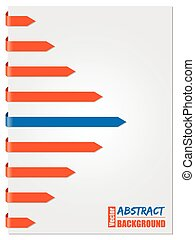 Blue & orange arrow brochure design