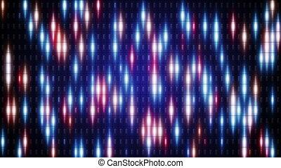blue orange flashing lights loop background