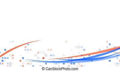 blue orange squares and lines loop