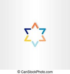 blue orange star logo icon