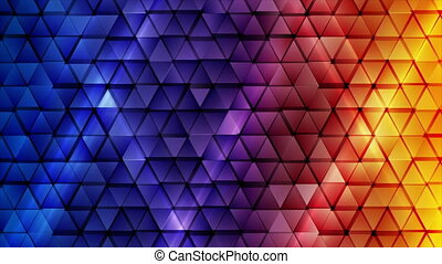 Blue orange technology motion background with glossy ...