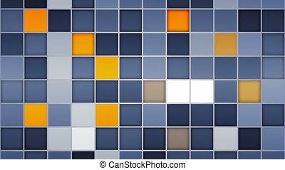 blue orange tiles loopable back