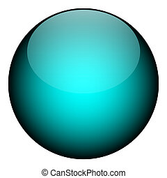 A blue orb - it works as a great planet, button, or other art element.