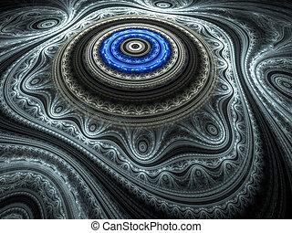 Blue Oriental Rug - Beautiful blue fractal render...