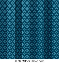 Blue oriental striped seamless pattern