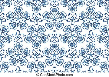 Blue ornament pattern