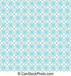 Blue ornament seamless pattern