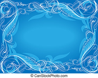 Blue ornamental background