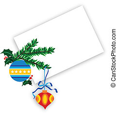 ornate christmas ball with holly berries on a white background