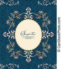blue ornate frame