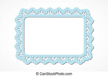 Blue ornate rectangle frame