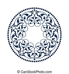 Blue Ottoman patterns over white