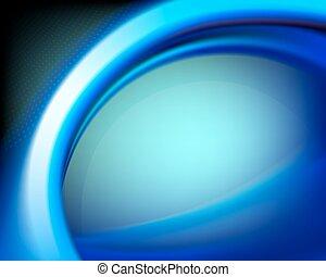 blue oval background