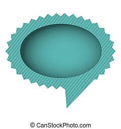 blue oval cloud chat bubble