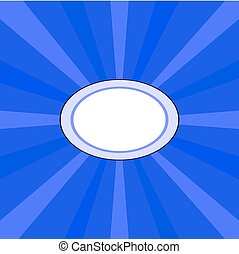 Blue oval radiant background