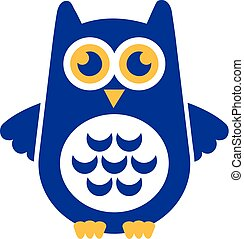 Blue Owl with wide wings