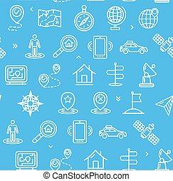 blue., padrão, vetorial, localização, fundo, navegação