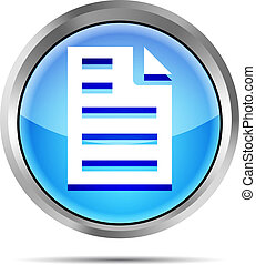 blue page icon on white background