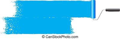 blue Paint background