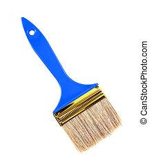 blue Paint brush isolated on white.