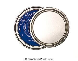 Blue Paint can