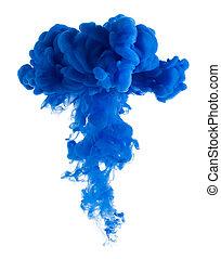 Blue paint cloud