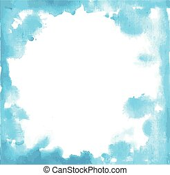 Blue paint grunge frame