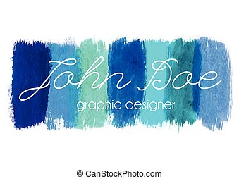 Blue paint logo