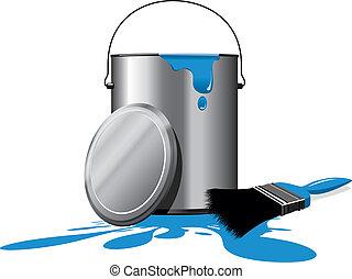 paint pot - blue paint pot