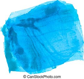 blue paint stain