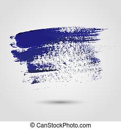 Blue paint strokes