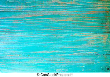 Blue painted old wooden background