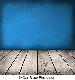 blue painted old wooden wall