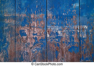 blue painted shabby wood desk texture