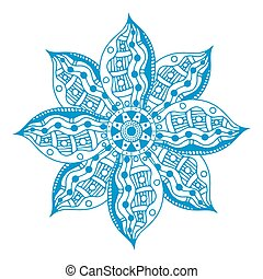 blue paisley mandala - Blue Mandala. Ethnic decorative...