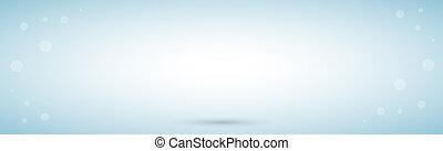 Blue panoramic studio background with white glow