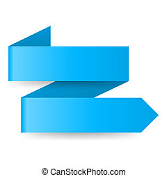 Blue paper arrow