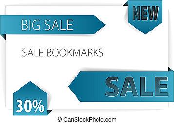 Blue paper arrows - Vector sale