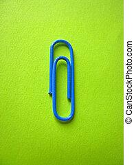 Blue paper clip