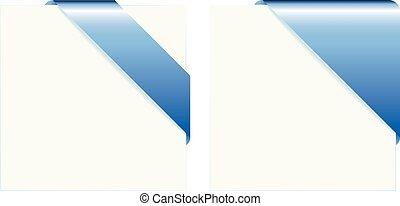 Blue paper corners