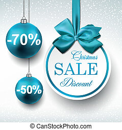 Blue paper round sale labels. - Holiday blue paper round...
