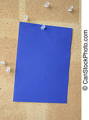 blue paper sheet pin