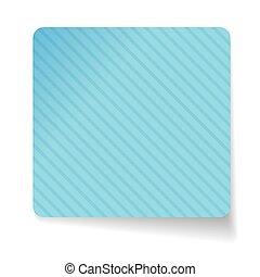 Blue paper sticker vector