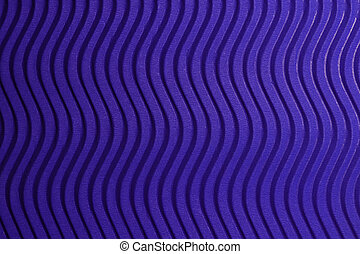 Blue Paper Vertical Waves Texture. Embossed Waves on Detailed Paper Background. Corrugated Wavy Cardboard Backdrop.