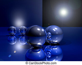 Blue paradise - Ball on the blue table