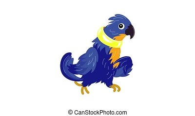 Blue parrot icon animation