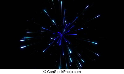 Blue Particle Firework Background