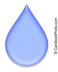 Blue pastel drop - Blue pastel tear with bevel on white...